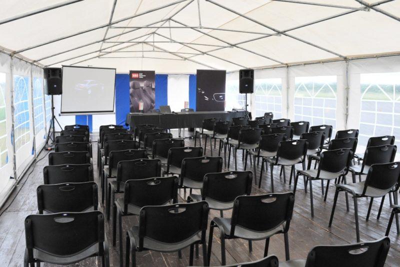 Namiot konferencyjny VIVO 6x12 SEAT 5101 800x534