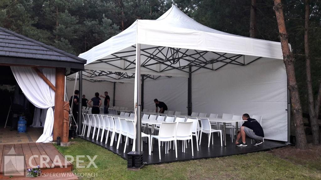 ekspresowe namioty bankietowe V2 wynajem na przyjecie w ogrodzie