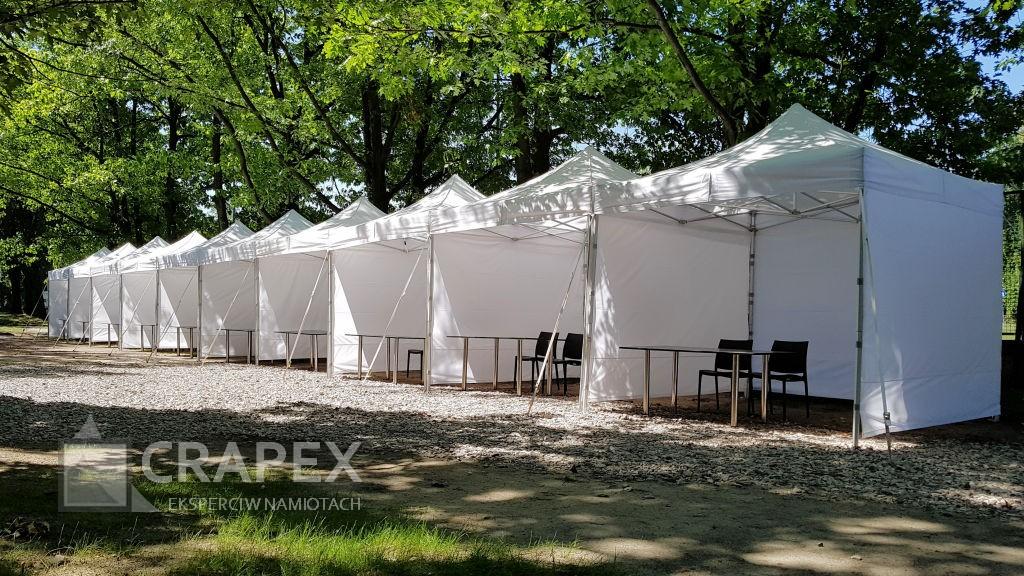 ekspresowe namioty wystawowe V3 wynajem nastoiska promocyjne handlowe Sluzewiec Wyscigi