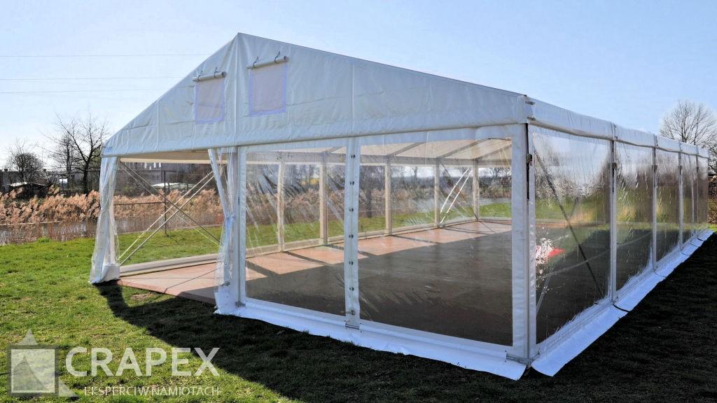 hala namiotowa Alfa z bokami przezroczystymi