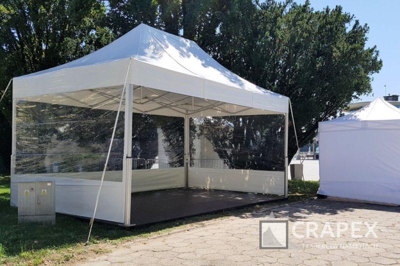 namiot ekspresowy V2 Exclusive z podloga sciany przezroczyste 800x533