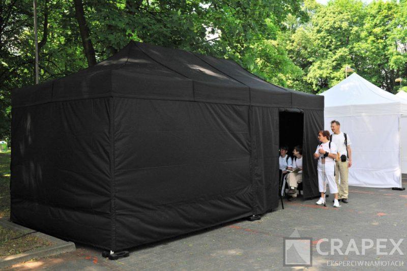 namiot ekspresowy V3 3x6m czarny wynajem Lazienki Warszawa 800x533