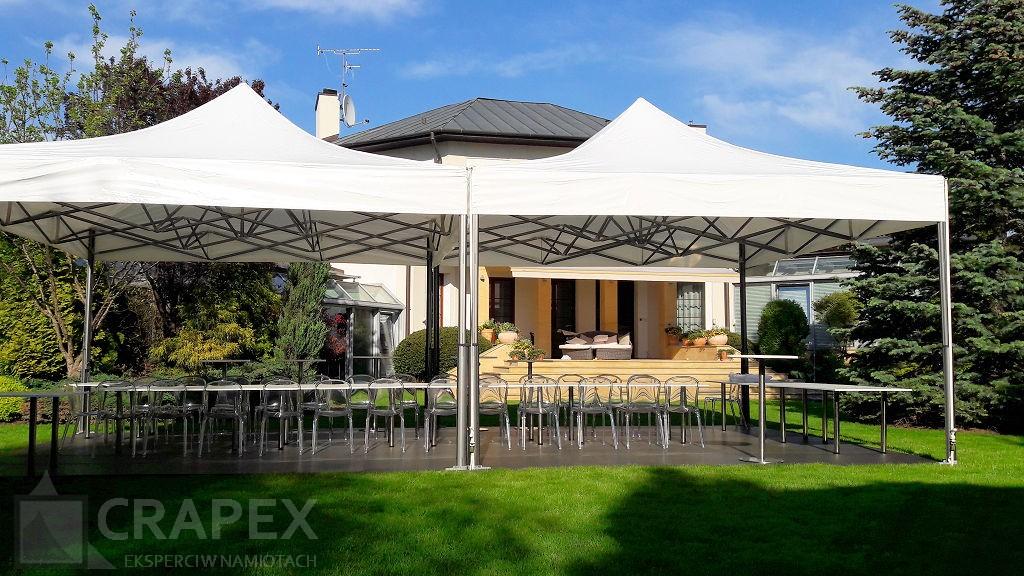 namioty bankietowe V2 wynajem na impreze w ogrodzie Babice
