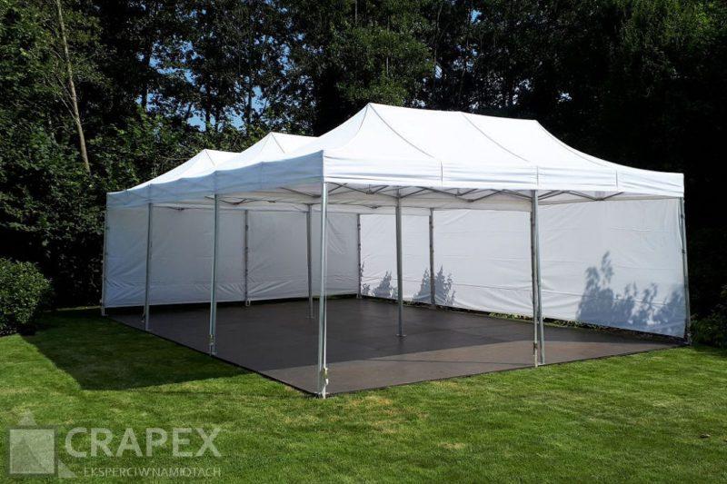 namioty imprezowe 3x6m z podloga polaczone do 6x9m wynajem 800x533