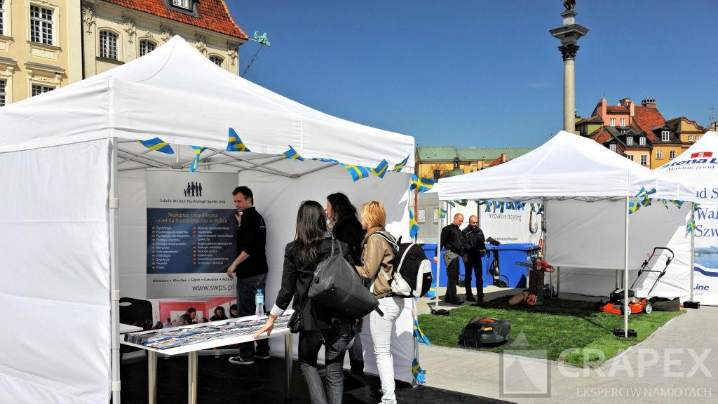 namioty wystawowe ekspozycyjne wynajem nastoiska Plac Zamkowy Warszawa 1