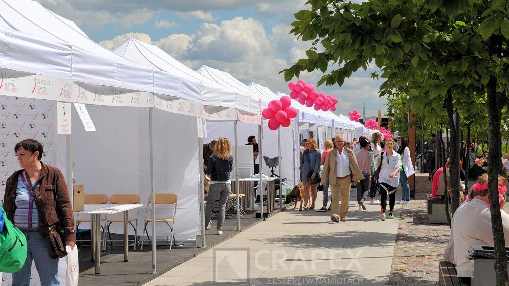 namioty wystawowe handlowe stoiska wynajem Warszawa Avon bulwary