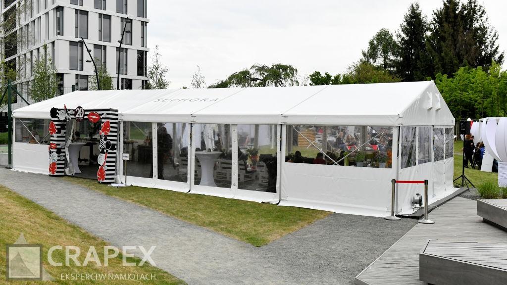 eventowa hala namiotowa 6x15m wynajem Warszawa Sephora