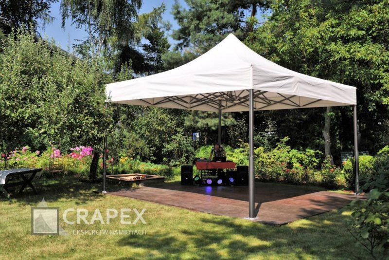namiot 5x5m dla DJa parkiet taneczny zadaszony wynajem Konstancin 800x534