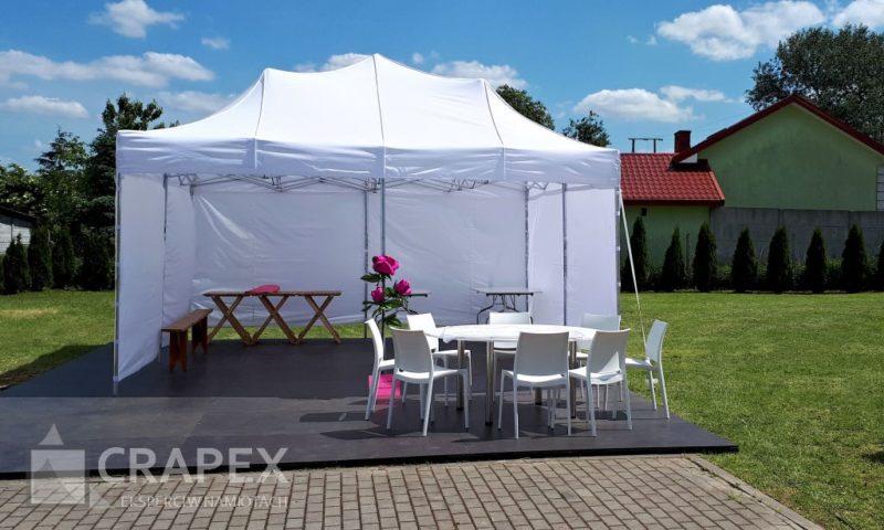 namiot imprezowy ekspresowy V4 wynajem krzesla stoly 800x480