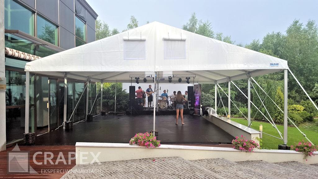 wynajem hali namiotowej parkiet taneczny zadaszenie na wesele