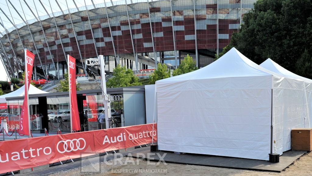 wynajem namiotow eventowych V2 5x5m Audi Porsche Stadion Narodowy Warszawa