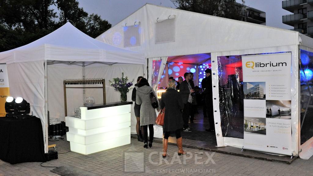wynajem recepcji podswietlanej naimpreze namioty eventowe