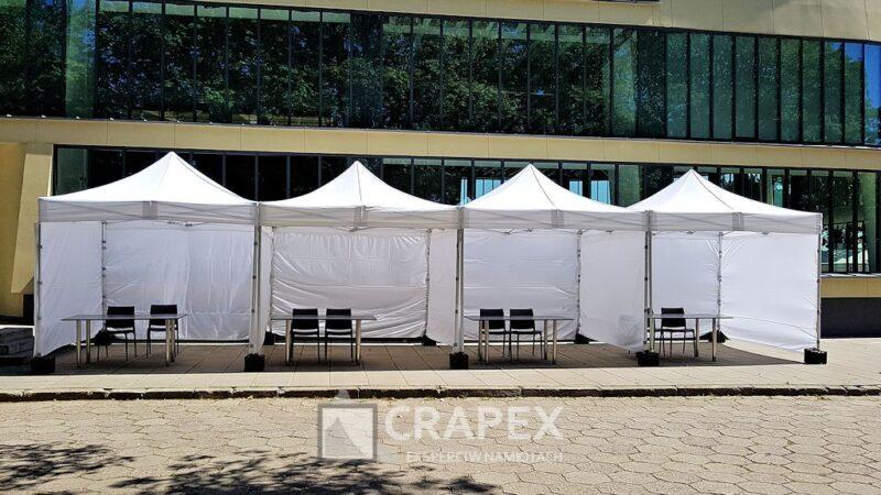 namioty ekspresowe V3 wynajem nastoiska ekspozycyjne wyscigi Warszawa 800x450