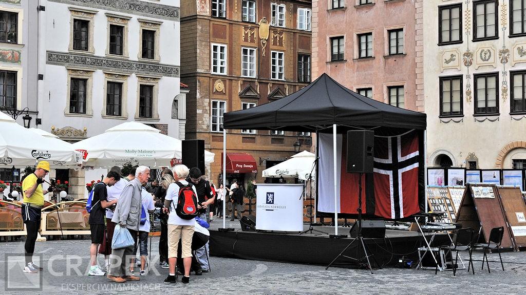 scena zadaszona rynek starego miasta Warszawa