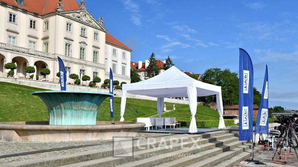 wynajem namiotu eventowego 4x4m TVP Zamek Krolewski Warszawa